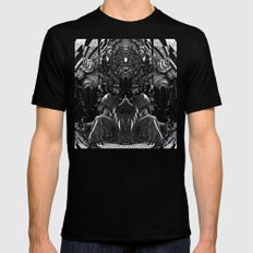 3:33 - Bicameral Brain  Mens Fitted Tee MEDIUM Black