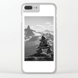 Black Tusk and the Inukshuk Clear iPhone Case