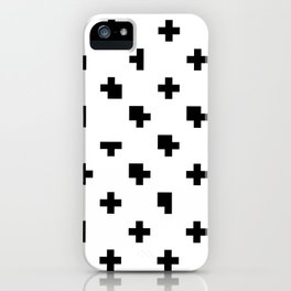White Criss Cross Glitch iPhone Case