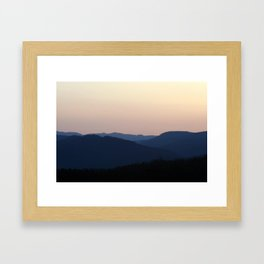 To End The Day On Top Of The World Framed Art Print