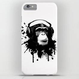 Monkey Business - White iPhone Case