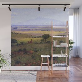 Athi Plains, Mount Kenya, Kenya, Africa Landscape by William R. Leigh Wall Mural