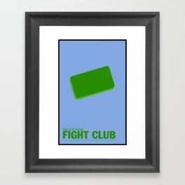 Fight Club | Minimalist Movie Posters Framed Art Print