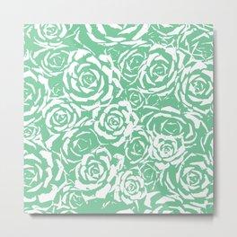 Succulent Stamp - Light Green #524 Metal Print