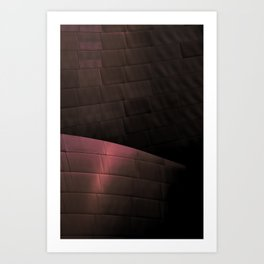 Deep Red architectural abstract of the LA Phil designed by Frank Gehry Art Print