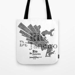 Rio De Janeiro Map Tote Bag
