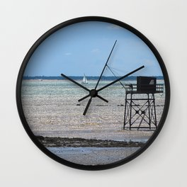 Fisherman house at ré island Wall Clock