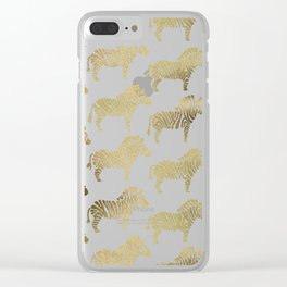 Golden Zebras Clear iPhone Case