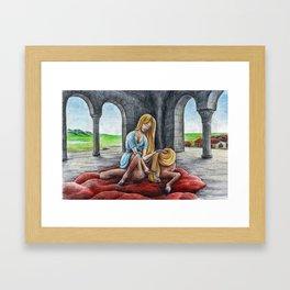 Centaur Girl Combing Framed Art Print