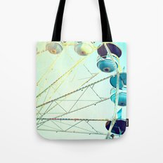 Blue Carousel Tote Bag