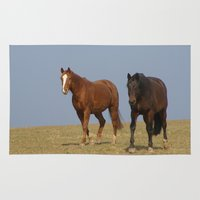 horses Area & Throw Rugs featuring horses by Laake-Photos