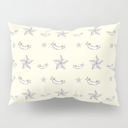 """Nifty 50's - """"Kick-Ass Sugar and Spice"""" in Cream Pillow Sham"""