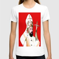 chad wys T-shirts featuring pope chad by Chad M. White