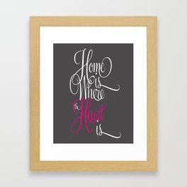 Home Is Where The Heart Is Framed Art Print