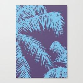 Ultra Violet Palm Print Canvas Print