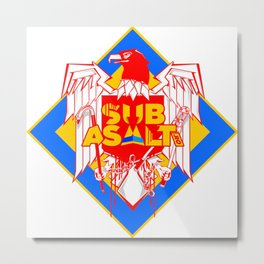 Bad-ass Eagle Metal Print