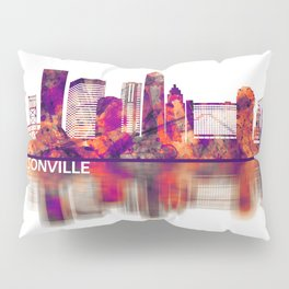 Jacksonville Florida Skyline Pillow Sham