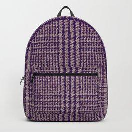 Purple plaid pattern Backpack