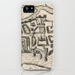 Vintage Map of Limerick Ireland (1618) iPhone Case