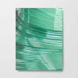 Green Mystery Abstract Metal Print