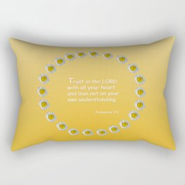 Trust in the Lord Daisy Ring Rectangular Pillow