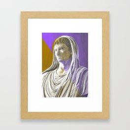 Augustus As Pontifex Maximus (Purple & Gold) Framed Art Print