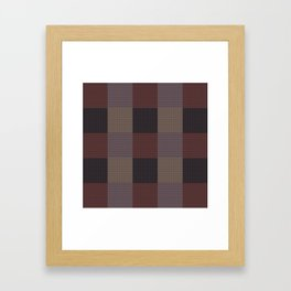 Chequered/Brown/Beige Framed Art Print