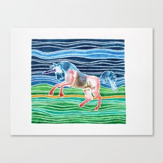 Unicorn - Licorne - Unicornio - Einhorn Canvas Print