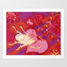 Batik Lovebug Art Print
