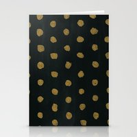 gold dots Stationery Cards featuring GOLD DOTS by natalie sales