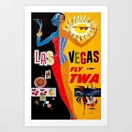 Lady Las Vegas Art Print