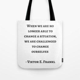 Stoic Wisdom Quotes - Viktor Frankl Tote Bag