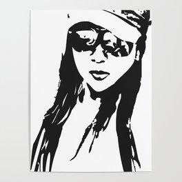 girl beach Poster