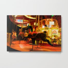Midnight Carousel Ride Metal Print