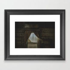 my window looked out upon nothing Framed Art Print