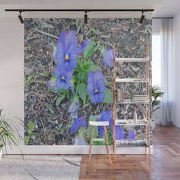 blue Pansy Wall Mural