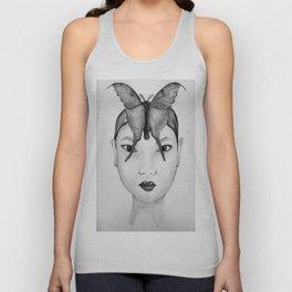 THE ASIAN WOMAN / ORIGINAL DANISH DESIGN bykazandholly  Unisex Tank Top