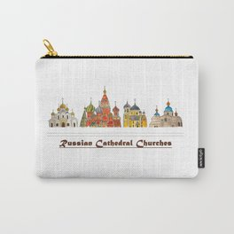 Colorful Cathedral Churches Carry-All Pouch
