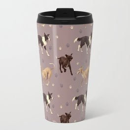 Rescue Dogs Pattern Travel Mug