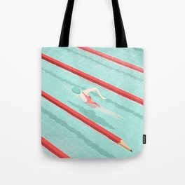 Swimming on art Tote Bag