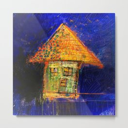 Yellow roof Metal Print