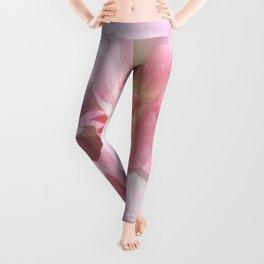 Fancy Pink Tulip Abstract Leggings