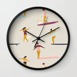 Dancers of the sea Wall Clock