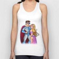 super hero Tank Tops featuring Super Hero  by Alex Pedreira