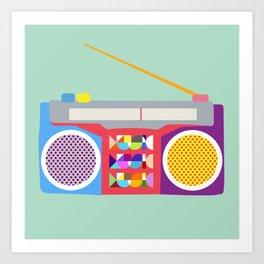 MUSIC, MUSIC, RADIO Art Print