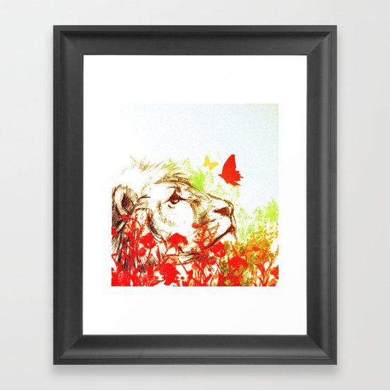 Beast and the Butterflies II Framed Art Print
