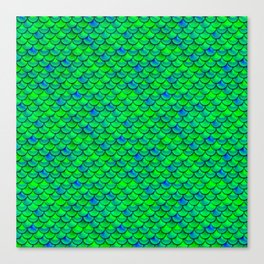 Green Blue Scales Canvas Print