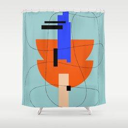 HILO GEOMETRICO 2/2 Shower Curtain