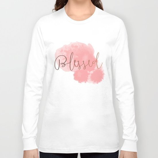 Blessed #society6 #decor #buyart Long Sleeve T-shirt