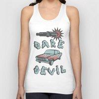 daredevil Tank Tops featuring DareDevil by NickTheGreek